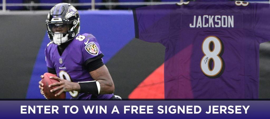 Win a Signed Lamar Jackson Jersey